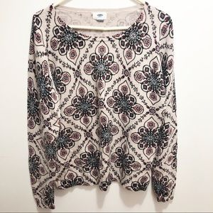 Old Navy Floral Sweater | Size Large